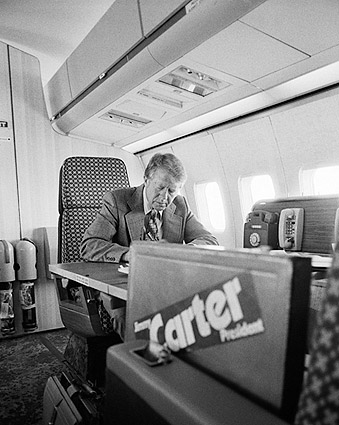 Jimmy Carter & Campaign Airplane Peanut One Photo Print