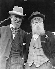 John Burroughs 75th Birthday w/ John Muir Photo Print for Sale