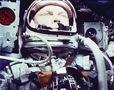 John Glenn in Mercury Atlas 6 Capsule Photo Print for Sale
