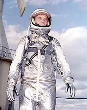 John Glenn in Mercury Space Suit Photo Print for Sale