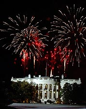 July 4th White House Fireworks in Washington D.C. Photo Print for Sale