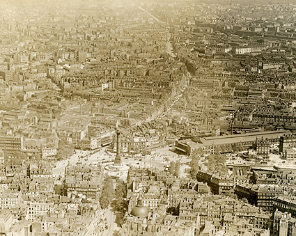 July Column and Place de la Bastille in Paris 1915 Photo Print