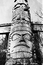Kasaan Totem Pole Alaska 1916 Photo Print for Sale