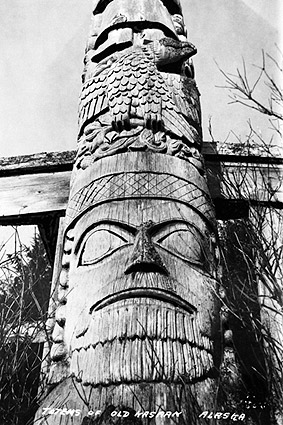 Kasaan Totem Pole Alaska 1916 Photo Print