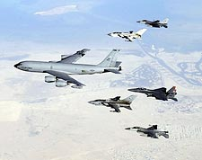 KC-135 Stratotanker & Aircraft Formation Photo Print for Sale