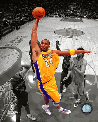 "Kobe Bryant Los Angeles Lakers ""Spotlight"" Basketball Photo Print"
