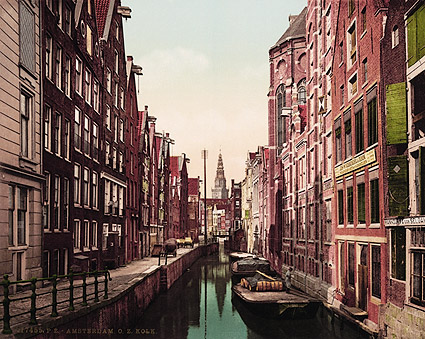 Kolk Canal & Oude Zyds, Amsterdam Photo Print