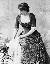 Lillie Langtry Tiger Rug Portrait 1882 Photo Print for Sale
