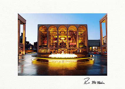 Lincoln Center Holiday Lights NYC Individual Christmas Cards