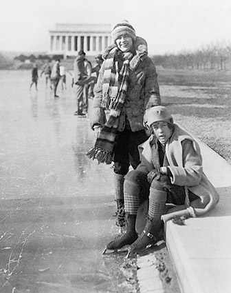 Lincoln Memorial Ice Skating, Wash. D.C. Photo Print