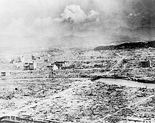 Little Boy A-Bomb Drop Hiroshima Ruins Photo Print for Sale