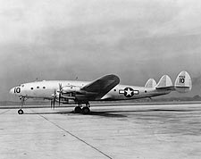 WWII Lockheed C-69 Constellation Aircraft Side View Photo Print for Sale