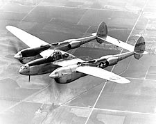 Lockheed P-38 Lightning in Flight Photo Print for Sale