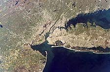 Long Island New York & New Jersey Satellite Photo Print for Sale