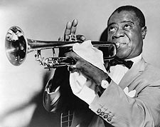 Louis Armstrong Playing Trumpet 1953 Photo Print for Sale