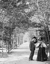 Lovers Lane Central Park New York City 1896 Photo Print for Sale