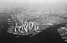 Lower Manhattan, New York City Aerial 1937 Photo Print for Sale