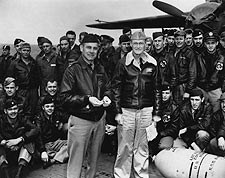 Lt. Col. Jimmy Doolittle with Tokyo Raiders WWII Photo Print for Sale