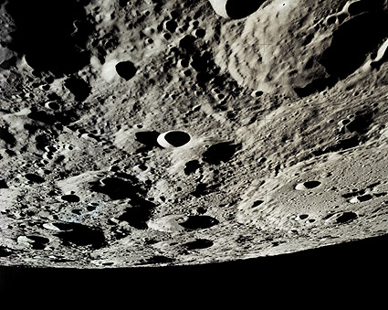 Lunar Craters from NASA Apollo 15 Mission Photo Print