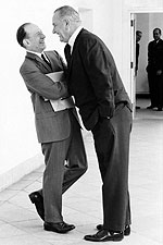 Lyndon Johnson & Abe Fortas Laughing Photo Print for Sale