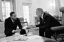 Lyndon Johnson & Martin Luther King, Jr. Photo Print for Sale
