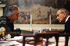 Lyndon Johnson w/ General Westmoreland Photo Print for Sale