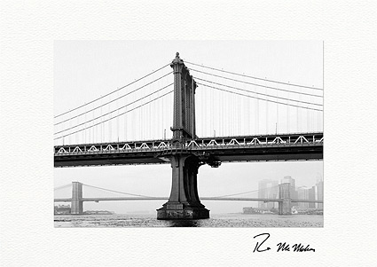 Manhattan Bridge, New York City Individual Greeting Cards