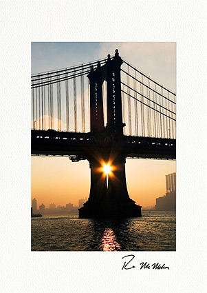 Manhattan Bridge Rising Star New York City Personalized Holiday Cards
