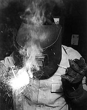 Manzanar Welder by Ansel Adams WWII 1943 Photo Print for Sale
