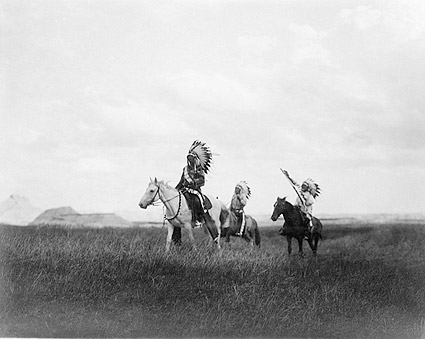 March of The Sioux, Edward S. Curtis 1905 Photo Print