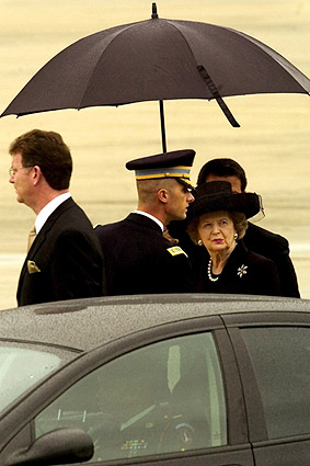 Margaret Thatcher at Andrews Air Force Base Photo Print