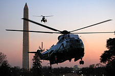 Marine One Helicopter Carrying President Obama Photo Print for Sale