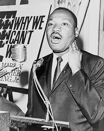 Martin Luther King, Jr. at Press Conference 1964 Photo Print