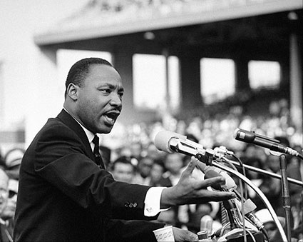 Martin Luther King, Jr. Giving Speech Photo Print