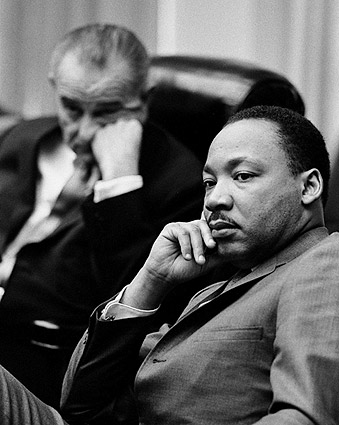 Martin Luther King Jr & Lyndon Johnson Photo Print