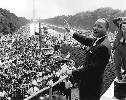 Martin Luther King, Jr. with Crowd 'I Have a Dream' Speech Photo Print
