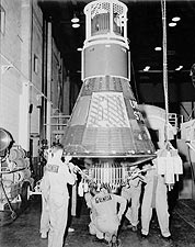 Mercury 8 Sigma 7 in Hangar NASA Photo Print for Sale