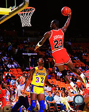 Michael Jordan Basketball Air '86 Slam Dunk Photo Print For Sale