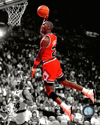 "Michael Jordan Chicago Bulls ""Spotlight"" Slam-Dunk Photo Print"