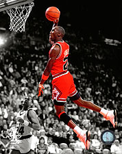 "Michael Jordan Chicago Bulls ""Spotlight"" Slam-Dunk Photo Print For Sale"