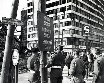 Military Police Marking British Sector in Berlin 1948 Photo Print