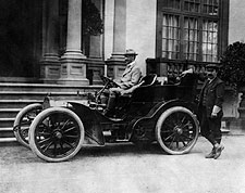 Millionaire John Jacob Astor IV in Automobile Photo Print for Sale