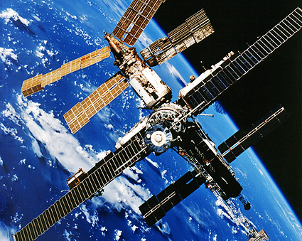 Mir Space Station in Orbit Taken From Space Shuttle STS-86 Photo Print