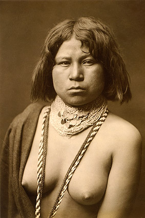 Mohave Indian Edward S. Curtis Portrait Photo Print