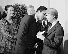 Muhammad Ali & President Jimmy Carter Photo Print for Sale