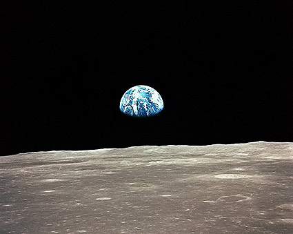 NASA Apollo 11 Earthrise Over Mare Smythii Photo Print