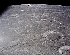 NASA Apollo 12 Lunar Module In Flight Photo Print for Sale