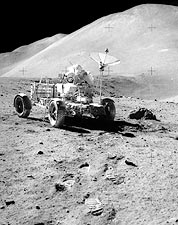 NASA Apollo 15 Astronaut David Scott with Lunar Rover Photo Print for Sale