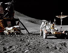 NASA Apollo 15 Lunar Module and Rover Photo Print for Sale