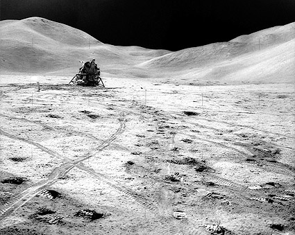 NASA Apollo 15 Lunar Module on Moon Photo Print